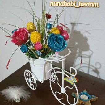 Bisikletli Çiçek Buketi Aranjman