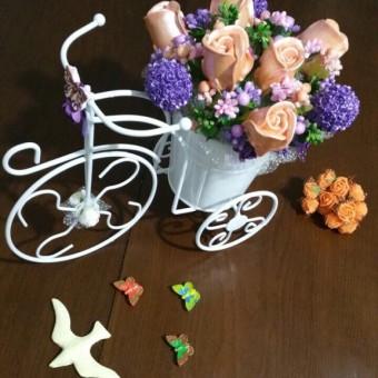 Bisikletli Çiçek Buketi Aranjman 2