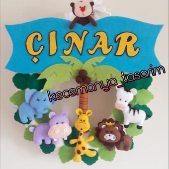 Çocuklarınızınn odasını süsleyecek safari temalı kapı süsü
