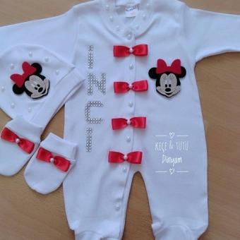 Yeni Doğan Minnie Mouse Tulum Takımı