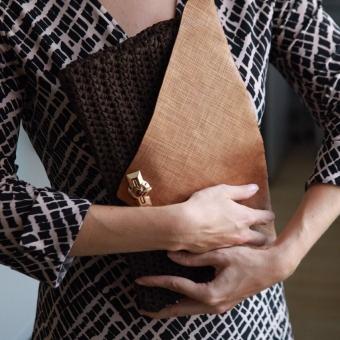 Örgü portföy çanta