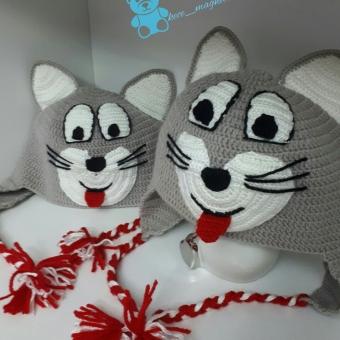Kedi Modeli Örgü Şapka